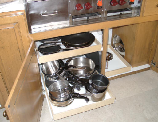 kitchen shelf sliding